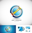 Abstract circle sphere 3d logo icon design vector image vector image