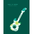 abstract green circles guitar music vector image