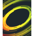 Abstract retro technology circles background vector image