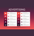 advertising infographic 10 option template market vector image vector image
