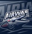air plane mascot logo esport vector image vector image