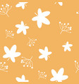 autumn fall cute dandelion flower and falling vector image vector image