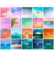 Big set 20 square blurred nature backgrounds