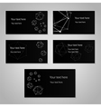 Black cards vector image vector image