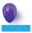 blue helium balloon with confetti vector image vector image