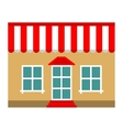Building shop store flat icon vector image vector image