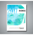 Business Design Cover Magazine background Aqua vector image vector image