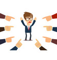 businessman with fingers pointing at him vector image vector image