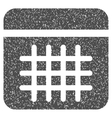Calendar Lines Page Grainy Texture Icon vector image vector image