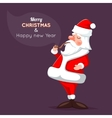 Cartoon Santa Claus Character Icon on Stylish vector image vector image