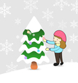 ChristmasCartoon X vector image vector image
