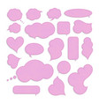 collection blank empty speech bubbles vector image vector image
