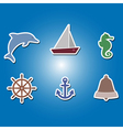 color icons with marine recreation symbols vector image vector image