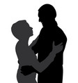 couple hugging dancing and talking vector image vector image