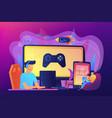 cross-platform play concept vector image