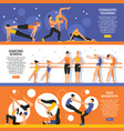 dance and gymnastic training banners set vector image vector image