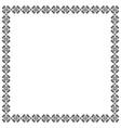 decorative square ornamental frame in black vector image