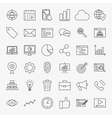 Development Line Icons Set vector image vector image