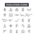 evolution line icons signs set outline vector image