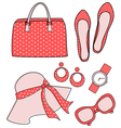 fashion accessories set vector image vector image