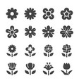 flower icon set vector image