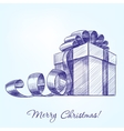 gift box hand drawn realistic vector image