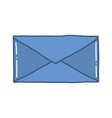 hand drawn of envelope vector image vector image