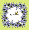 hand drawn vintage floral square frame vector image vector image