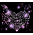 Heart with ornament vector image