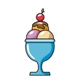 ice cream delicious isolated icon vector image vector image