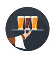 icon beer vector image vector image