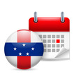 Icon of national day on netherlands antilles vector image vector image