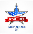 independence day star vector image vector image
