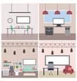 interiores workspace coffee shop restaurant vector image