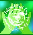 international day for biological diversity green vector image vector image
