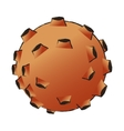 Isolated asteroid design vector image vector image