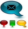 mail speech comic icons vector image vector image