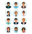 male and female faces avatars businessman and vector image vector image