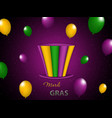 mardi gras party hat vector image