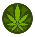 marijuana pot weed leaf vector image vector image