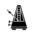 metronome icon black sign on vector image vector image