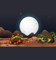 nature scene with ants and toad at night vector image vector image