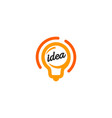 new idea symbol stylized lightbulbs icon vector image vector image