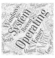 operating system Word Cloud Concept vector image vector image