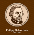 philip melanchthon was a german lutheran reformer vector image vector image
