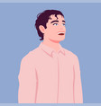 portrait an office worker in a pink shirt vector image vector image