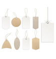 price tags blank template white and beige vector image vector image