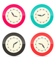 Retro Alarm Clock Set Isolated on White Background vector image vector image