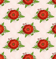 Seamless pattern with poppies bohemian style vector image vector image