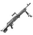 semi-automatic rifle concept vector image